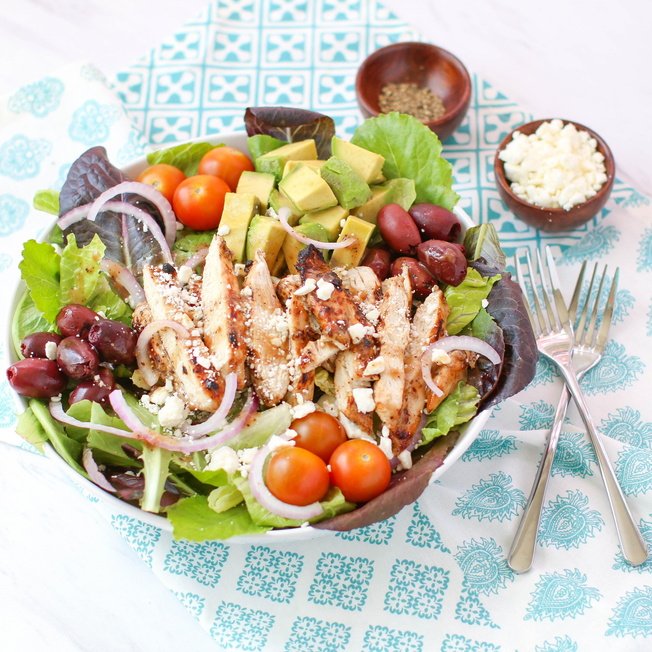 Greek Avocado & Grilled Chicken Salad
